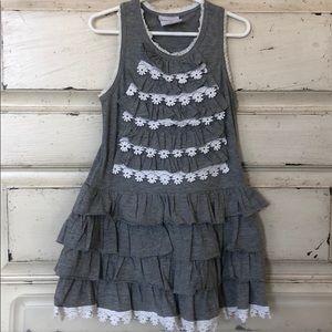 Mim pi Layered ruffle dress